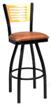 Wood and Upholstery Swivel Stools